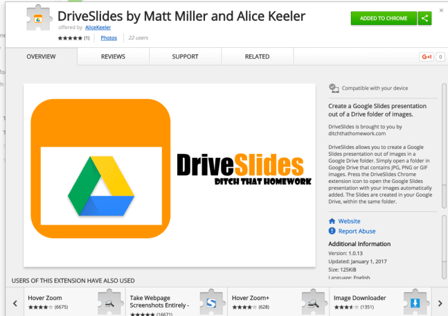 DriveSlides Chrome Extension