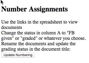 Number Assignments