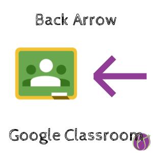 Google Classroom: Back Arrow