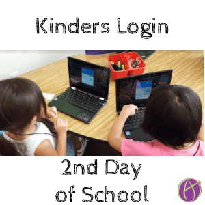Kinders Log Into Acer Chromebooks 2nd Day of School