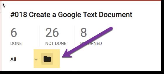 Folder icon in Google Classroom
