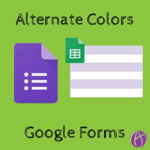 alternate colors