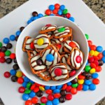 pretzel hershey's kiss and m&ms
