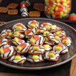 Candy Corn White Chocolate Pretzels #SundaySupper
