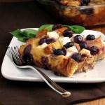 Overnight Blueberry Baked French Toast #SundaySupper