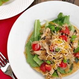 Poblano Chicken Tostada Salad | alidaskitchen.com