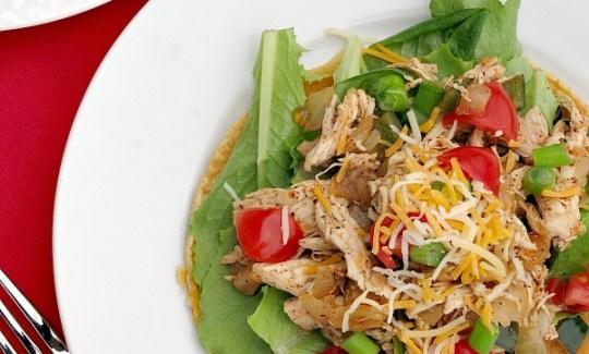 Poblano Chicken Tostada Salad