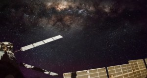 The Milky Way above the International Space Station's solar panels. Credits: NASA/NASA Crew Earth Observations/Hugh Carrick-Allan.