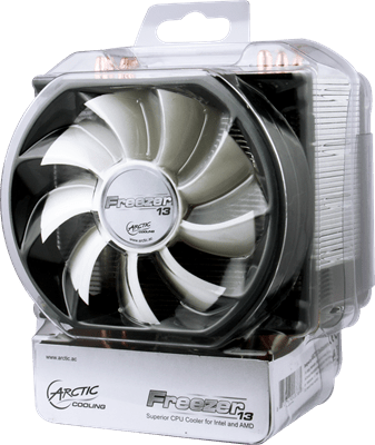 Freezer13PackageFront thumb1 Arctic Cooling Freezer 13 CPU Cooler Review