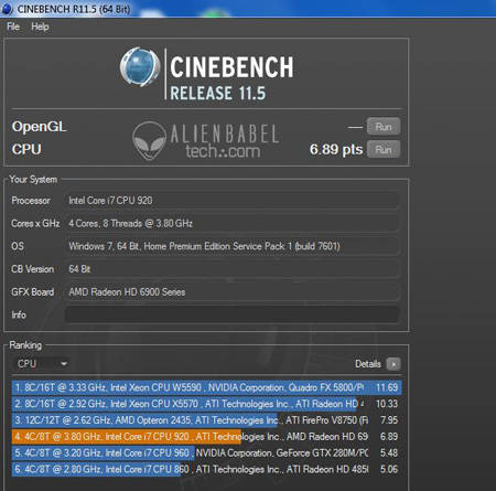 CineBench i7 AMDs FX 8150 vs. Core i7 & Phenom II   Bulldozer Arrives!
