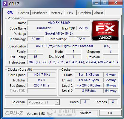 cpuz AMDs FX 8150 vs. Core i7 & Phenom II   Bulldozer Arrives!