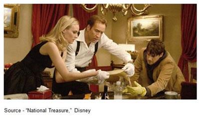 """""""We're more like treasure protectors."""" – Ben Gates, """"National Treasure,"""" 2004, Disney"""
