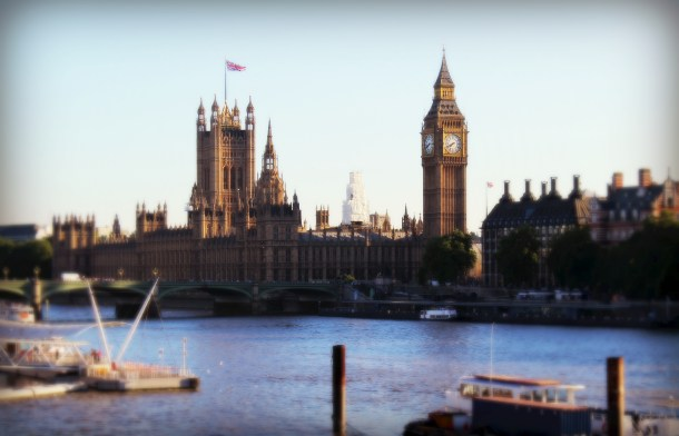 View of Big Ben and Parliament, London (Photo by Amy Watson Smith, July 2013)