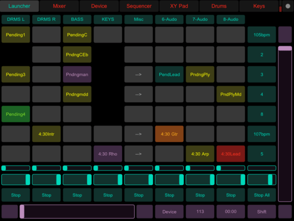 Getting started with touchosc in ableton live for Touchosc templates ableton