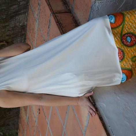 Vestido blanco pendientes 3