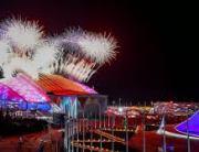 Olimpijski kompleks u Sočiju - vatromet. Vatromet u Sočiju. Olimpijada u Sočiju. Olimpijske igre 2014.