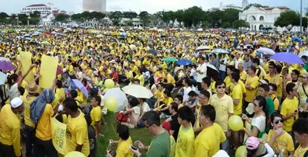 Bersih 2.0 and Duduk Bantah 3.0 were very multi-ethnic mass rallies