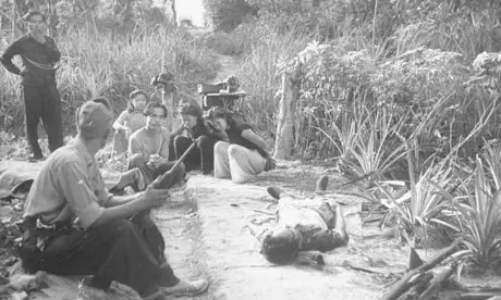 Communist prisoners are held during the Malaya emergency of the late 1940s. Photograph: Jack Birns/Time & Life Pictures - Guardian