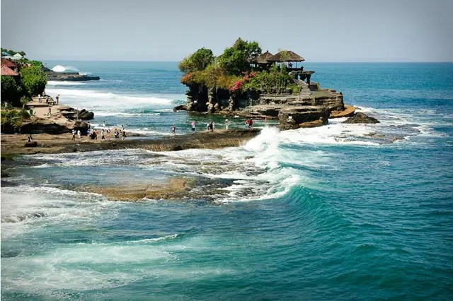 Tanah Lot temple in Bali - Photograph: Wikipedia