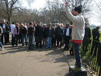 Speakers Corner, Hyde Park - Photograph: urban75.org