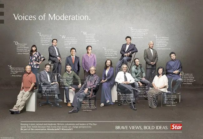 "The Star's ""Voices of moderation"" campaign"