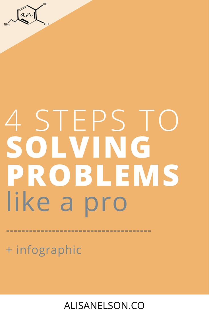 "Are you ""solving"" problems by short cutting? I get it, it saves time and solving problems can be painful. But if you're always stepping around a problem instead of getting to the heart of the issue, you risk the survival of your business and your ability to be creative + productive. Instead, use the numerous problems that arise while running a business to learn and you'll set yourself up for success in the long-term. Check out these 4 steps for problem solving like a pro. More at http://alisanelson.co."