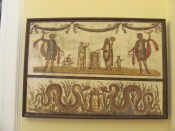 Painted panel from Pompeii - celebrations