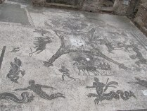 Floor mosaic in the baths of the coachmen