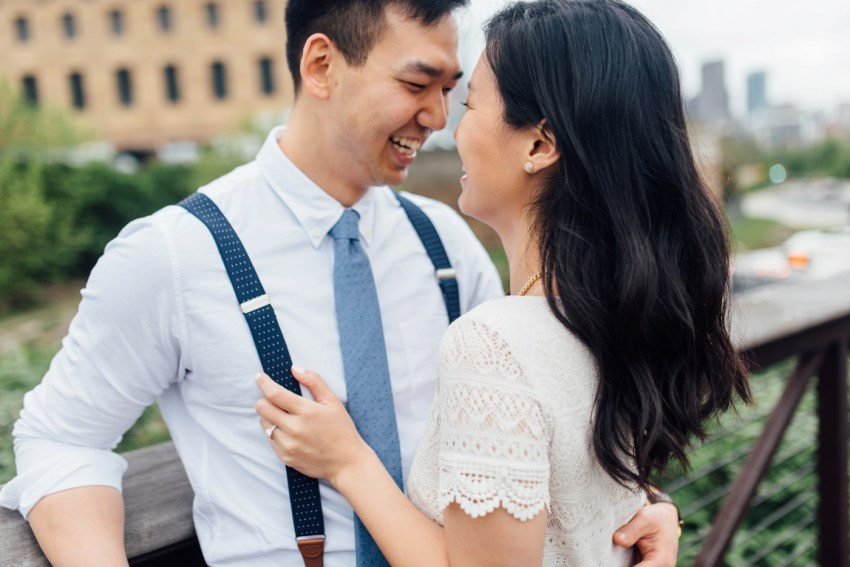 Moon + Nina - Philadelphia Art Museum Engagement Session - Alison Dunn Photography photo