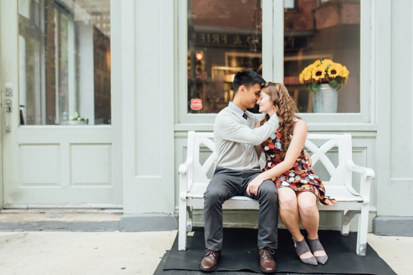 Dana + James - Graduate Hospital - Philadelphia Engagement Session - Alison Dunn Photography photo