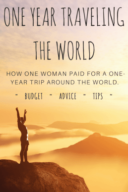 A one-year budget breakdown of costs to travel the world