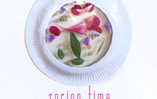spring time paper plate sun catchers