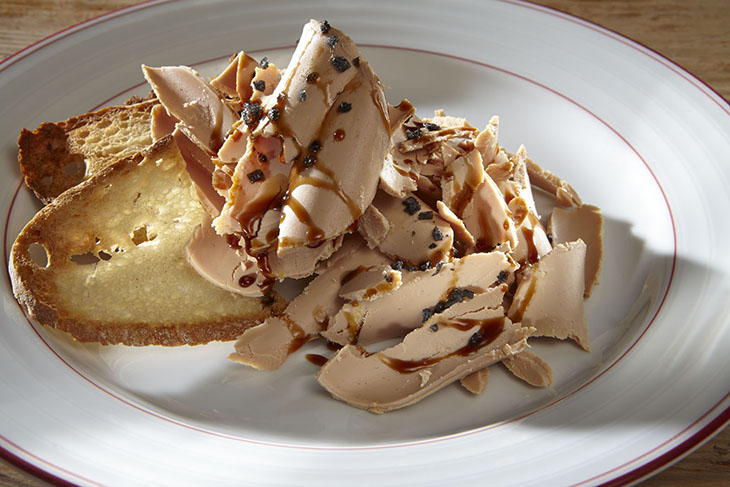 traca - Laminas de foie com maça caramelizada 730