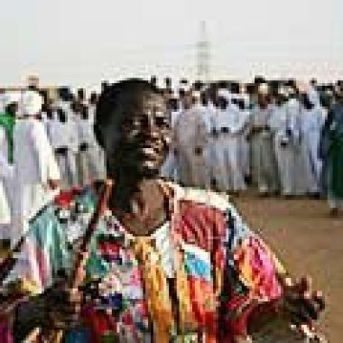 Whirling Dervish in a state of ecstasy in Northern Sudan