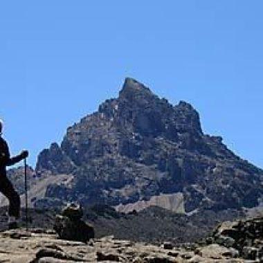 Niamh O Riordan ascending Kilimanjaro in Tanzania