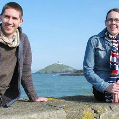 Malachy and Niamh in Ballycotton prior to their departure