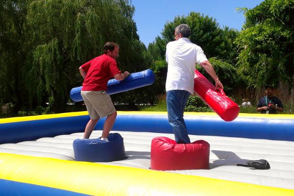 Gladiator style joust ring