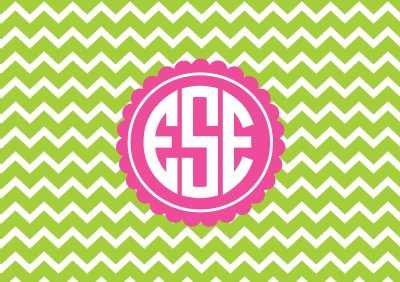 Chevron Binder Cover Monogram Printable | AllAboutTheHouse Printables