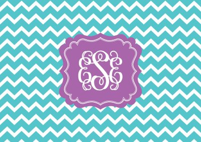 Chevron Monogram Wallpaper | AllAboutTheHouse Printables