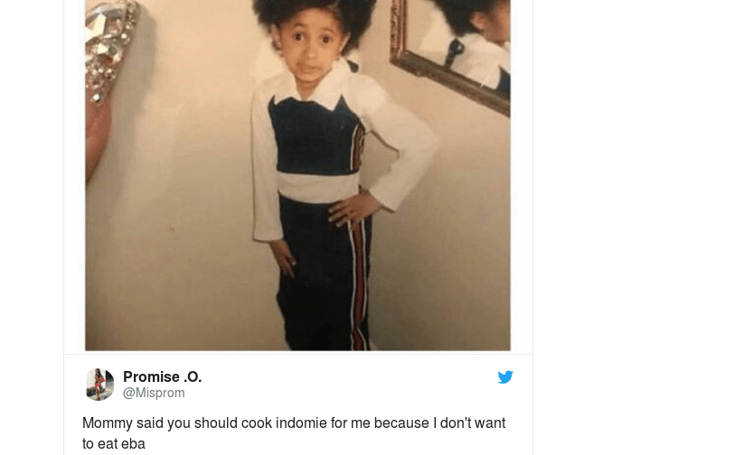 Africa  Funny Captions of Cardi B Childhood Meme As Used By Africans     Africa  Funny Captions of Cardi B Childhood Meme As Used By Africans    allAfrica com