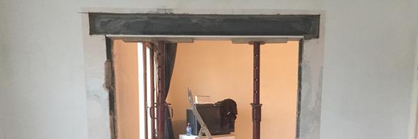 Nos réalisations, Rénovation, Ouverture mur porteur