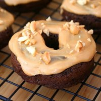 Chocolate Donuts with Peanut Butter Glaze (Low Carb and Gluten Free)