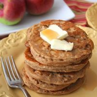 Whole Wheat Apple Cider Pancakes (Healthy Breakfast)