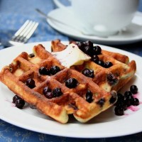 Blueberry Coconut Waffles - Low Carb and Gluten-Free