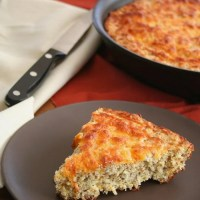 Cheesy Skillet Bread - Low Carb and Gluten-Free