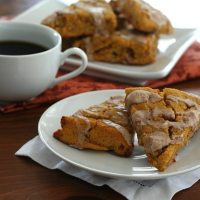 Pumpkin Scones with Cinnamon Glaze - Low Carb and Gluten-Free