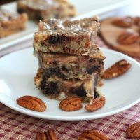 Salted Caramel Pecan Blondies - Low Carb and Gluten-Free
