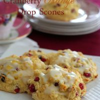 Cranberry Orange Drop Scones - Low Carb and Gluten-Free