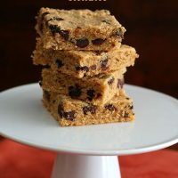 Peanut Butter Chocolate Chip Blondies - Low Carb and Gluten-Free