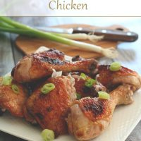 Ginger Pear Glazed Chicken